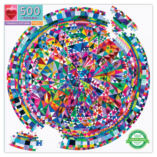 500 piece puzzle | triangle pattern