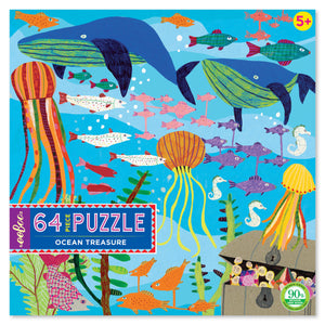 64 piece puzzle | ocean treasure