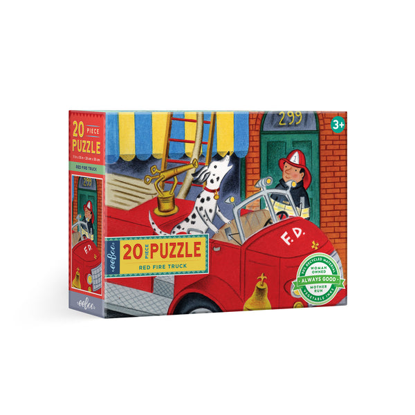 20 piece puzzle | red fire truck