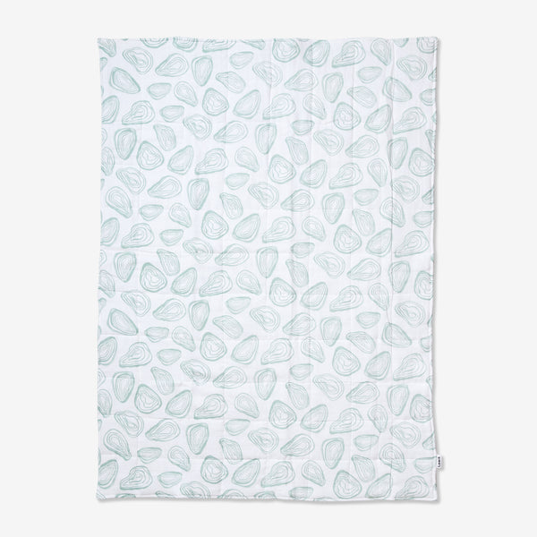 quilted baby blanket | oyster