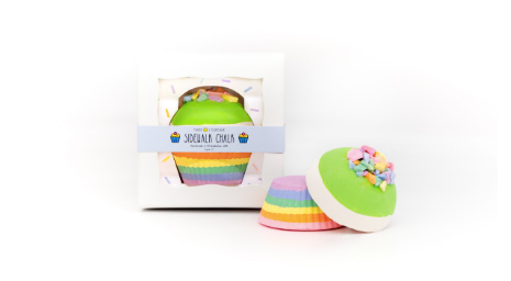 sidewalk chalk | rainbow cupcake - green