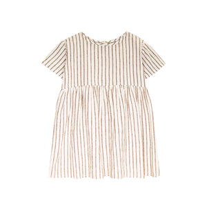 prairie dress | fennel stripe