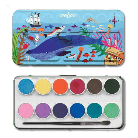 watercolor tin | in the sea