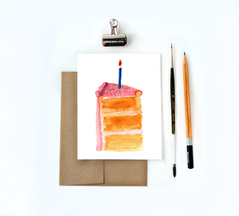 watercolor birthday cake