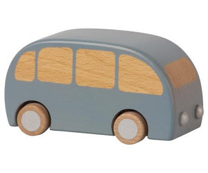 wooden bus | blue