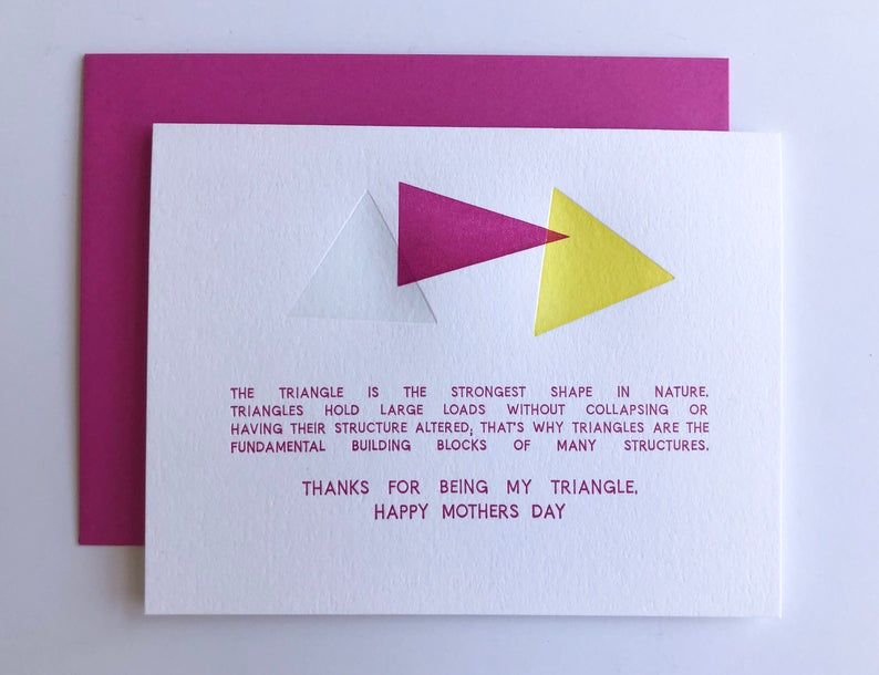 geometric mother's day