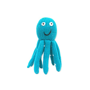 rattle | octopus - turquoise