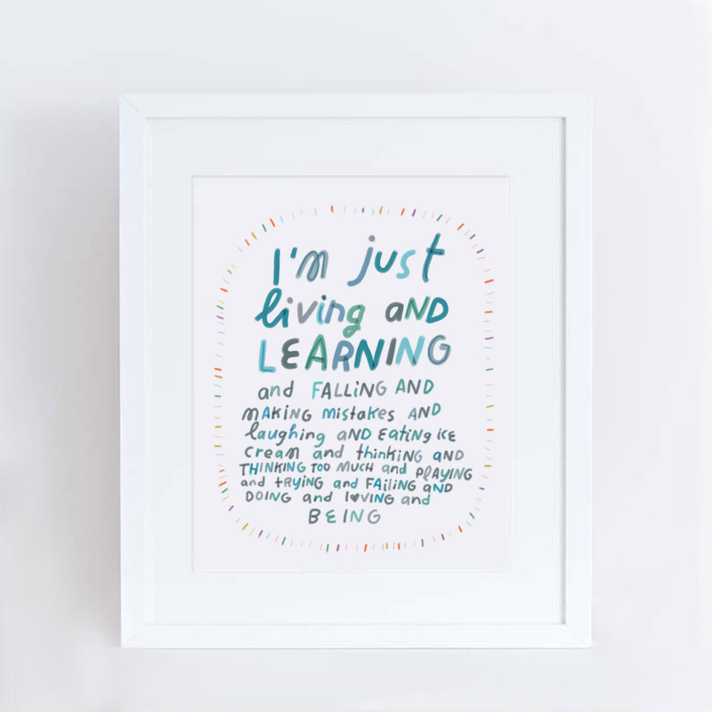 living and learning print