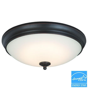 Commercial Electric LED 23-120watt Flushmount Ceiling Light Oil Rubbed Bronze-OB