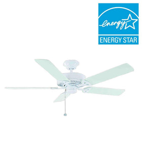 "Hampton Bay Farmington II 52"" Ceiling Fan White-OB"