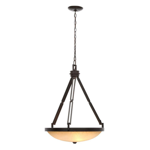 Hampton Bay 3-Light Pendant Fixure Dark Ridge Bronze-OB