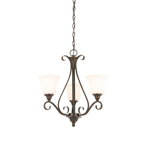 Hampton Bay Restoration Look 3-Light Chandelier Oil Rubbed Bronze-OB