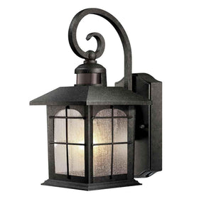 Home Decorators Brimfield Motion Sensing Exterior Wall Lantern Aged Iron-OB