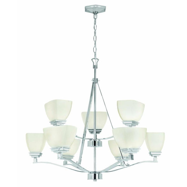 Home Decorators Sydney 9-Light Chandelier Nickel