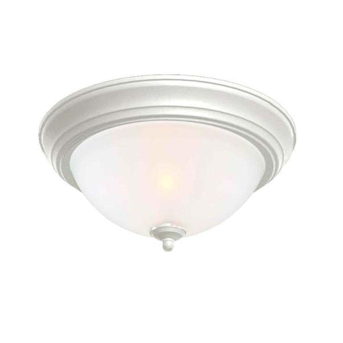 Commercial Electric 2-Light Flushmount Ceiling Fixture White (2-pack)-OB