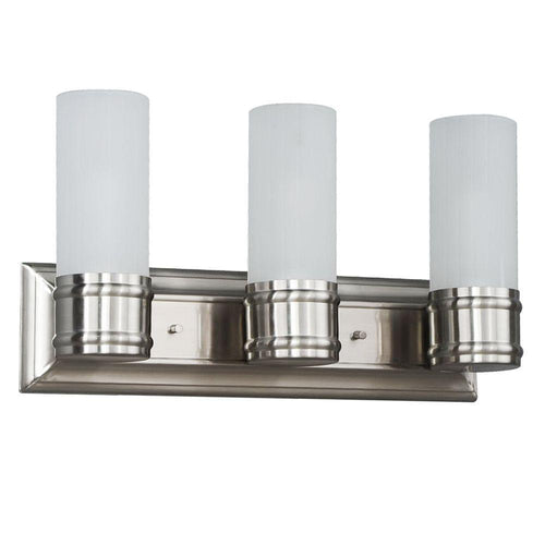 Hampton Bay Charenton 3-Light Vanity Fixture Brushed Nickel