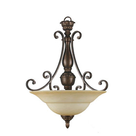 Hampton Bay Carina 3-Light Pendant Aged Bronze