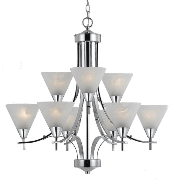 Triarch International Value 310 9-Light Chandelier Fixture Chrome