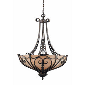 Triarch International Passion 6-Light Pendant Fixture Bronze Oro