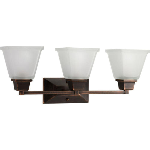 Progress Lighting North Park 3-Light Vanity Fixture Venetian Bronze