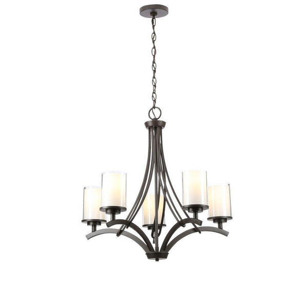 Hampton Bay Brewerton 5-Light Chandelier Bronze-OB