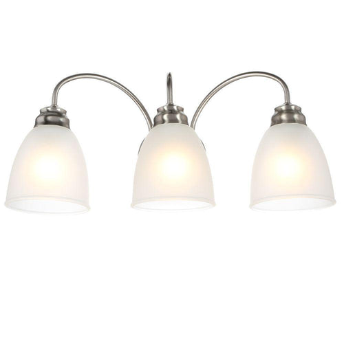 Commercial Electric Hamilton 3-Light Vanity Fixture Brushed Nickel-OB