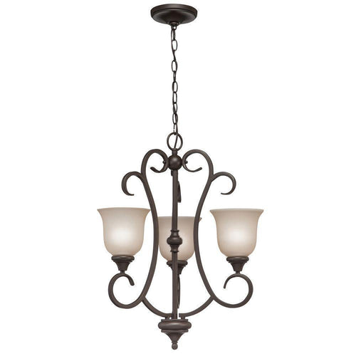 Hampton Bay Lavers Hill 3-Light Chandelier Scavo
