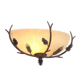 Hampton Bay Lodge Exterior Wall Sconce Weathered Spruce-OB