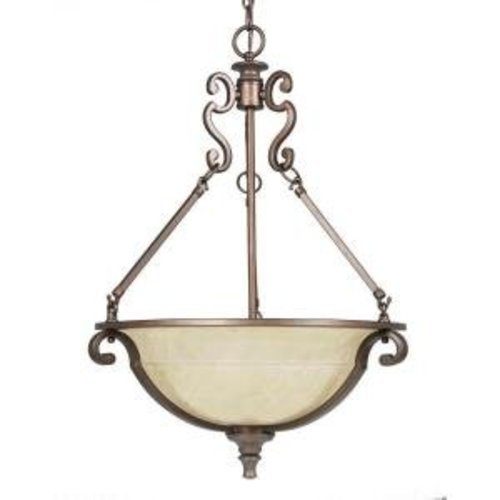 Home Decorators Fairview 3-Light Hanging Pendant Heritage Bronze-OB