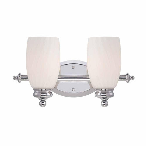 Hampton Bay Newbell 2 Light Vanity Fixture Chrome Ob