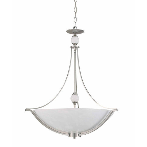 Triarch International Halogen VI 4-Light Pendant Fixture Brushed Steel