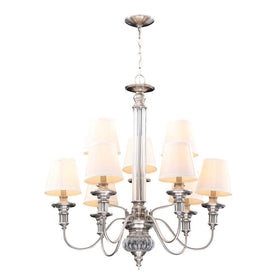 Hampton Bay Gala 9-Light Chandelier Polished Nickel