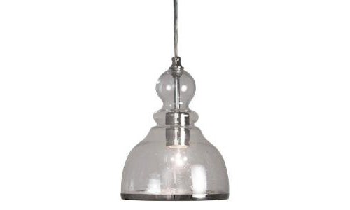 Home Decorators Bell Pendant 1-Light Fixture Polished Nickel-OB