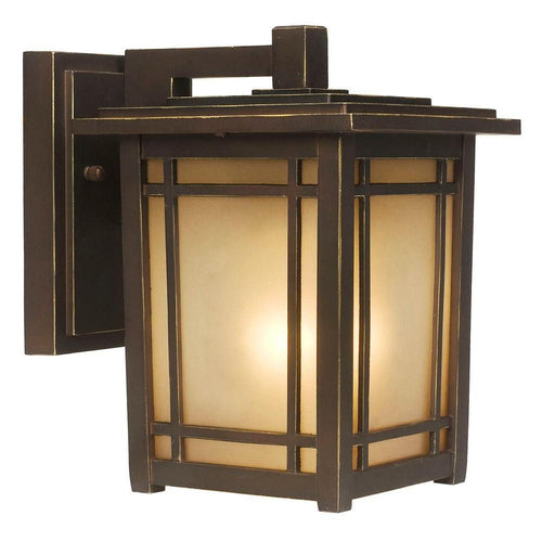 Home Decorators Port Oxford Small Exterior Wall Lantern Oil Rubbed Chestnut-OB