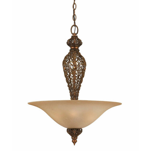 Triarch International Crown Jewel 4-Light Pendant Fixture Gold