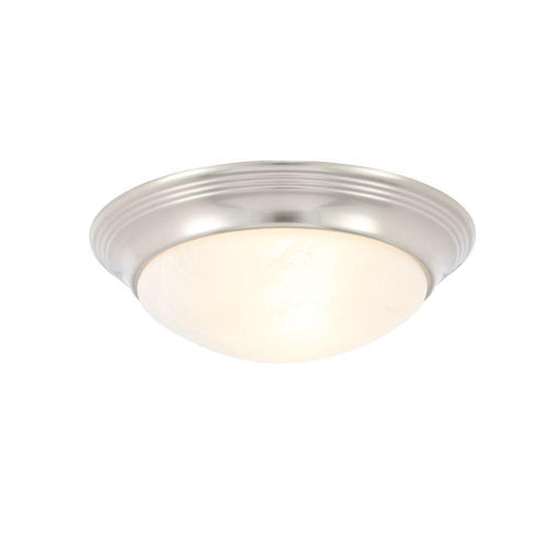 Progress Lighting 1-Light Flush Mount Ceiling Light Brushed Nickel-OB