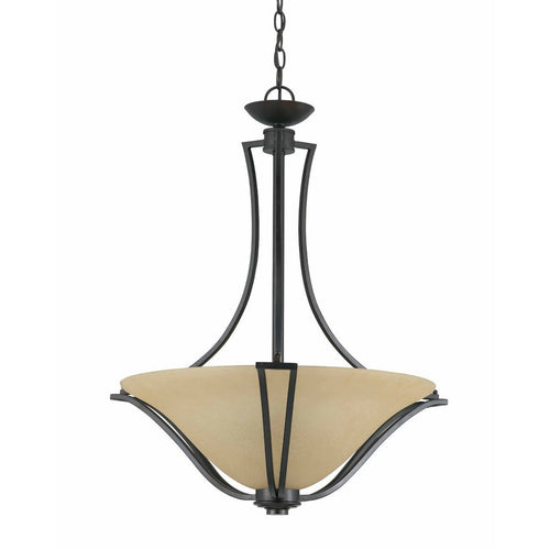 Triarch International Greco Bowl 3-Light Pendant Fixture English Bronze
