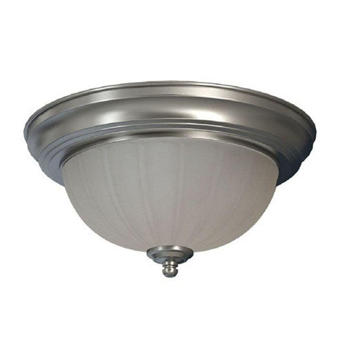 Commercial Electric 1-Light Flush Mount Fixture Brushed Nickel (4-Pack)-OB