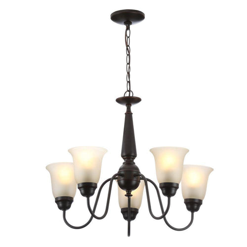 Commercial Electric 5-Light Reversible Chandelier Oil Rubbed Bronze-OB