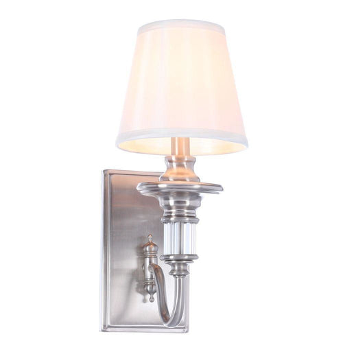 Hampton Bay Gala 1-Light Wall Sconce Polished Nickel-OB