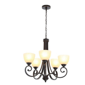 Hampton Bay Renae 5-Light Chandelier Oil Rubbed Bronze-OB