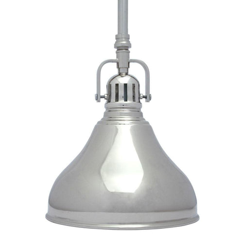 Home Decorators Kettle Pendant Polished Nickel-OB