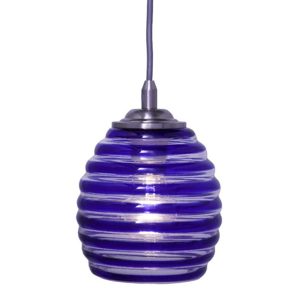 Home Decorators Blue Swirl Pendant Brushed Nickel