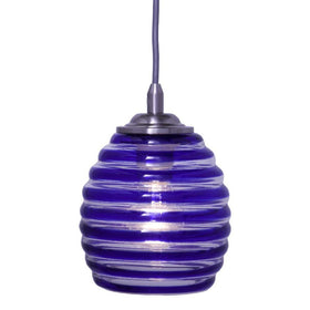 Home Decorators Blue Swirl Pendant Brushed Nickel-OB