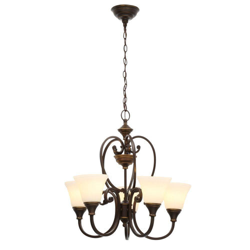 Hampton Bay Somerset 5-Light Chandelier Bronze