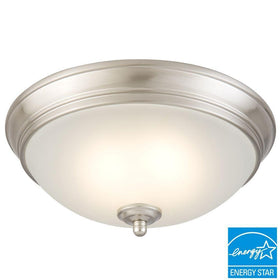 Commercial Electric LED 17-120watt Flushmount Ceiling Light Brushed Nickel-OB