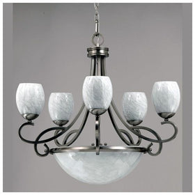 Triarch International Jaclyn 8-Light Chandelier Brushed Steel
