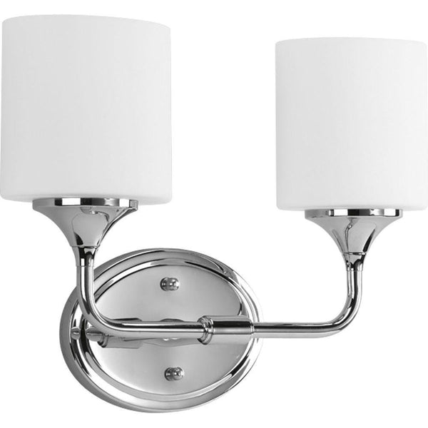 Progress Lighting Lynzie 2-Light Vanity Bath Chrome
