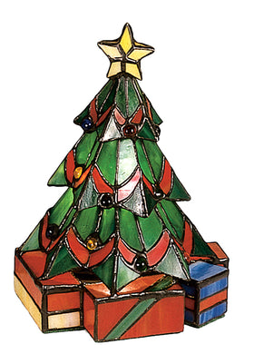 "Meyda Tiffany 9""H Christmas Tree Accent Lamp 12413 705696124138"