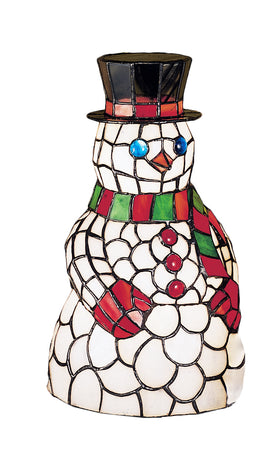 Meyda Tiffany Snowman Table Accent Lamp.614 18471 705696184712